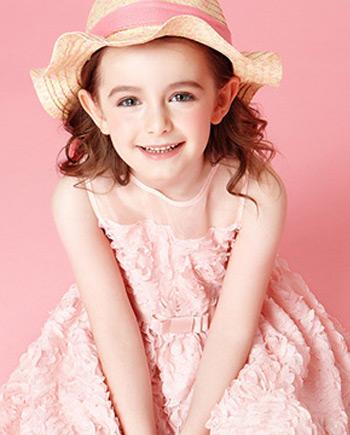 新款长袖女童连衣裙印花百褶儿童裙印花