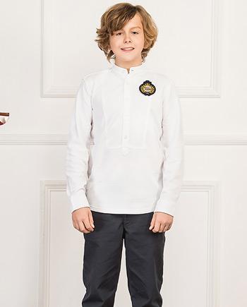 立领门襟轻中式男童长袖T恤