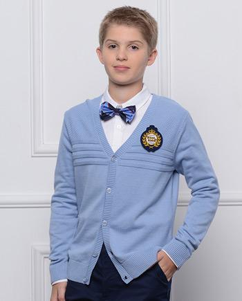 新款毛衣男童英伦学院毛衫薄